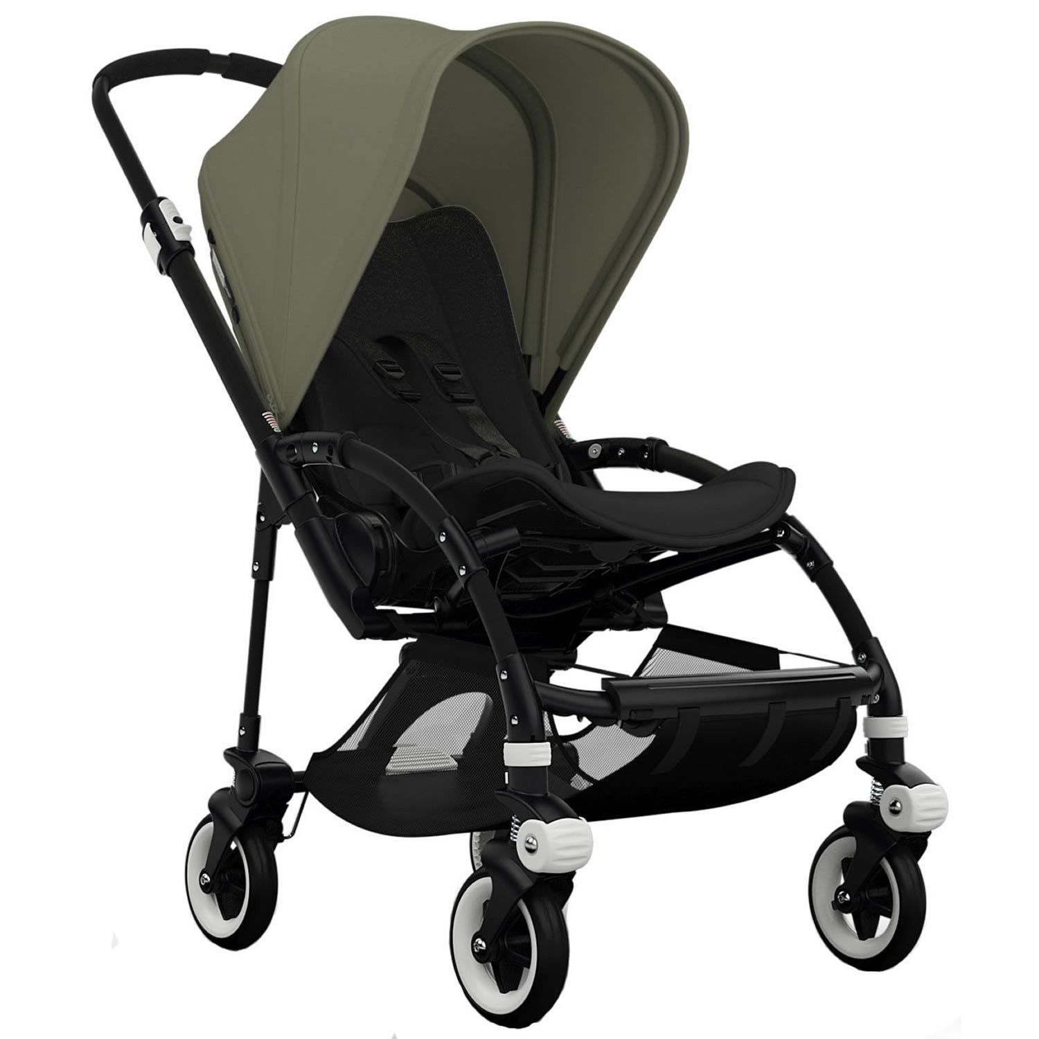 Bugaboo Bee3 Stroller Black Black Dark Khaki (With