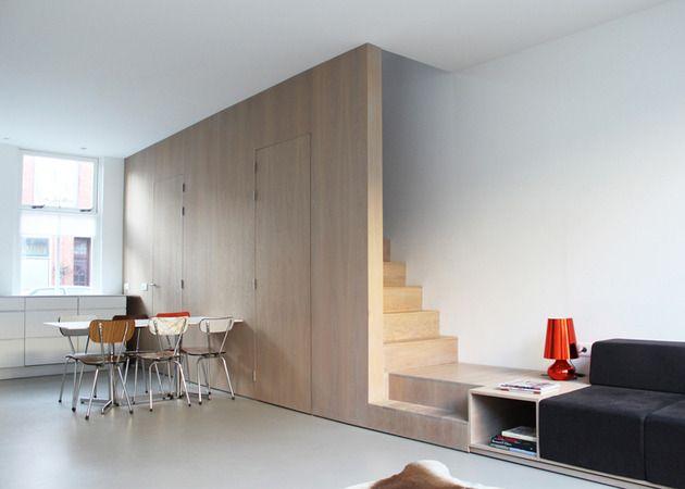 treppen-design-holz-sofa-uebergehen moderne Wohnungsgestaltung ...