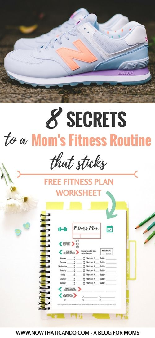 8 Secrets To A Fitness Routine That Sticks Printable Fitness Plan