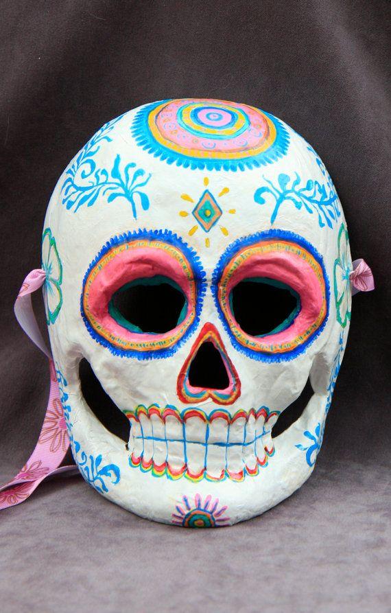 Soft and festive folk design mask by BlueGooseStudios on Etsy, $20.00