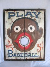 Antique Carnival Black Americana Toss Game
