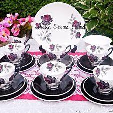 TEA SET ROYAL ALBERT MASQUERADE VINTAGE TEA SET FOR SIX