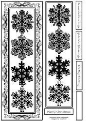 Monochrome Snowflakes 7 Large Dl - Inksaver