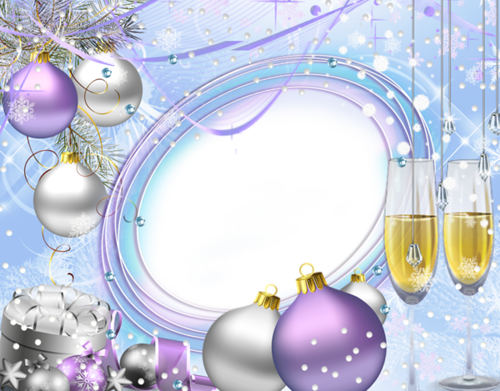 Новогодние и зимние рамки | Képkeret, Vinyetta, Keretek