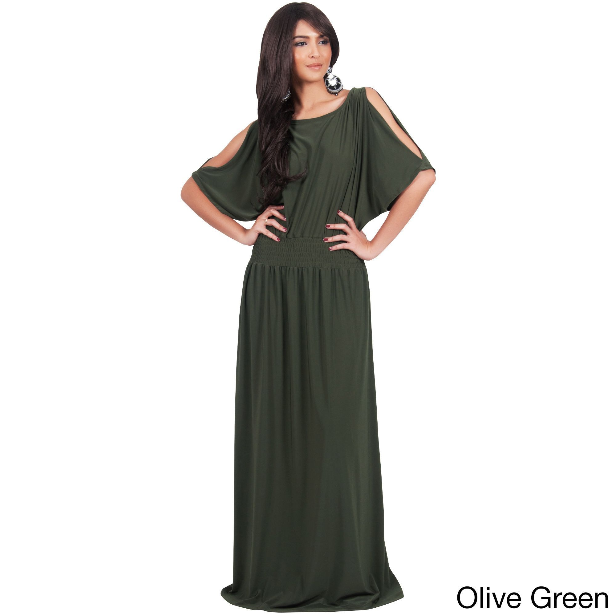 Global koh koh womenus split sleeves cocktail long gown maxi dress