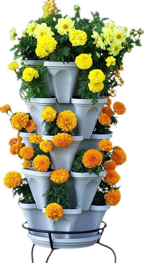 Vertical Garden Kit Stackable Planter Set 5 Tier Indoor