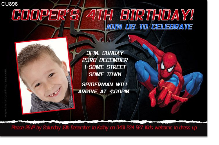 Spiderman invitation templates birthday party jareencarl spiderman invitation templates birthday party filmwisefo Choice Image