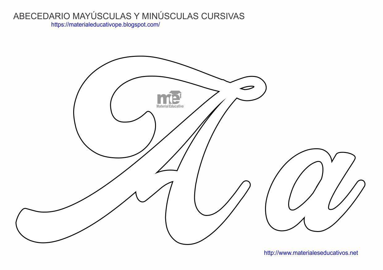 Moldes De Letras Cursivas Mayusculas Y Minusculas Moldes De
