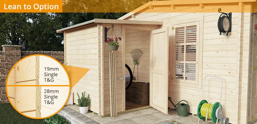 BillyOh Devon Log Cabin - Summer Houses - Garden Buildings Direct ...
