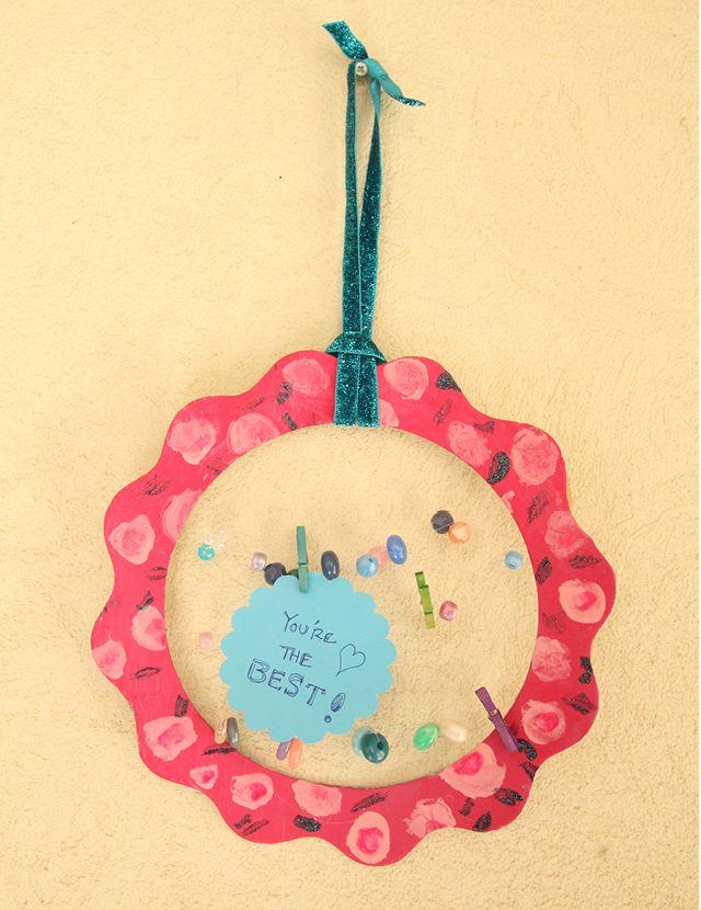 The Kids Clothesline Kid's Summer Craft Mini Clothesline Note Holder  Pinterest  Note