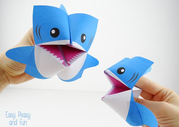 5 manualidades con papel, ¡animales fáciles Animales, Shark and