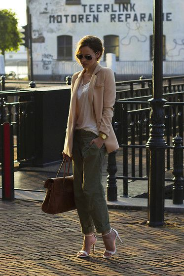 Olive Clothing Blazer, Mulberry Bayswater Bag, Zara Sandals