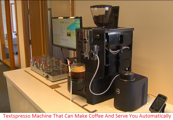 Zipwhip Can Make Coffee With 'Textspresso' Machine #juraimpressa Zipwhip Can Make Coffee With 'Textspresso' Machine - A local startup has created a new machine. They named it 'Textspresso' machine. TextSpresso machine is based on the Jura Impressa XS90 machine but its activity is slightly from that. The TextSpresso machine automatically makes coffee. It allows every person to place a coffee order via text message and have. It means, you don't have to get up from your chair/bed or call someon #juraimpressa