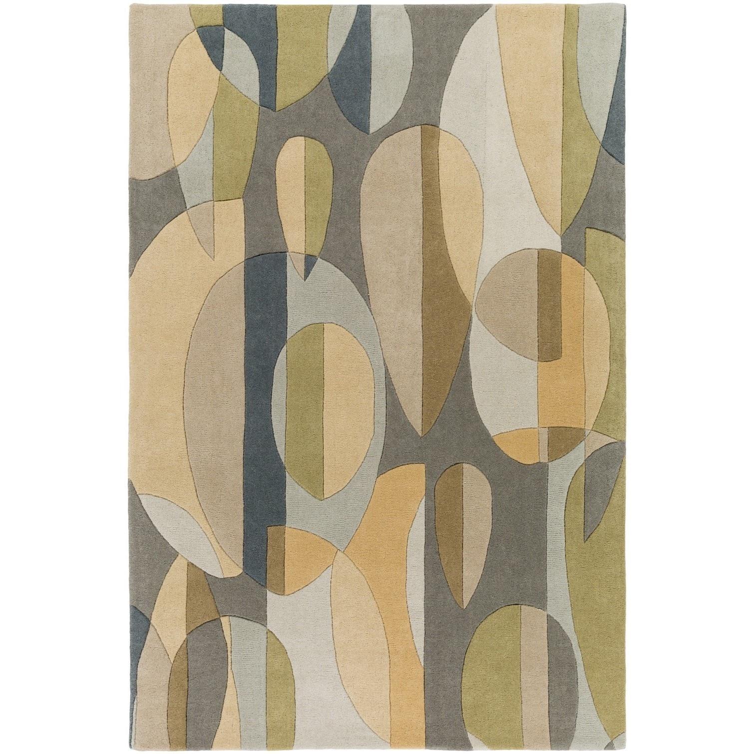 Hand Tufted Hana Wool Area Rug 7 X 9 Beige Tan Brown Size
