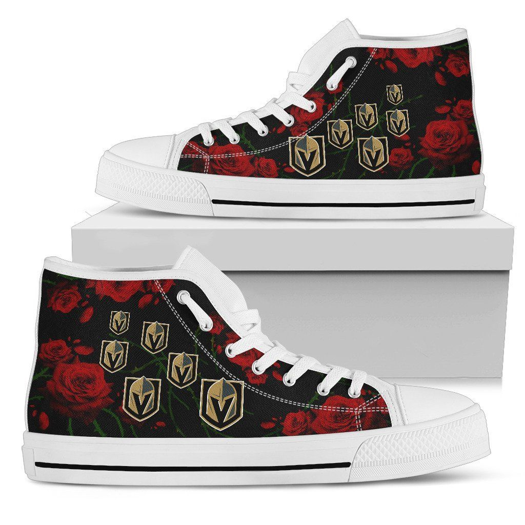 Lovely Rose Thorn Incredible Vegas Golden Knights High Top Shoes – Best Funny Store