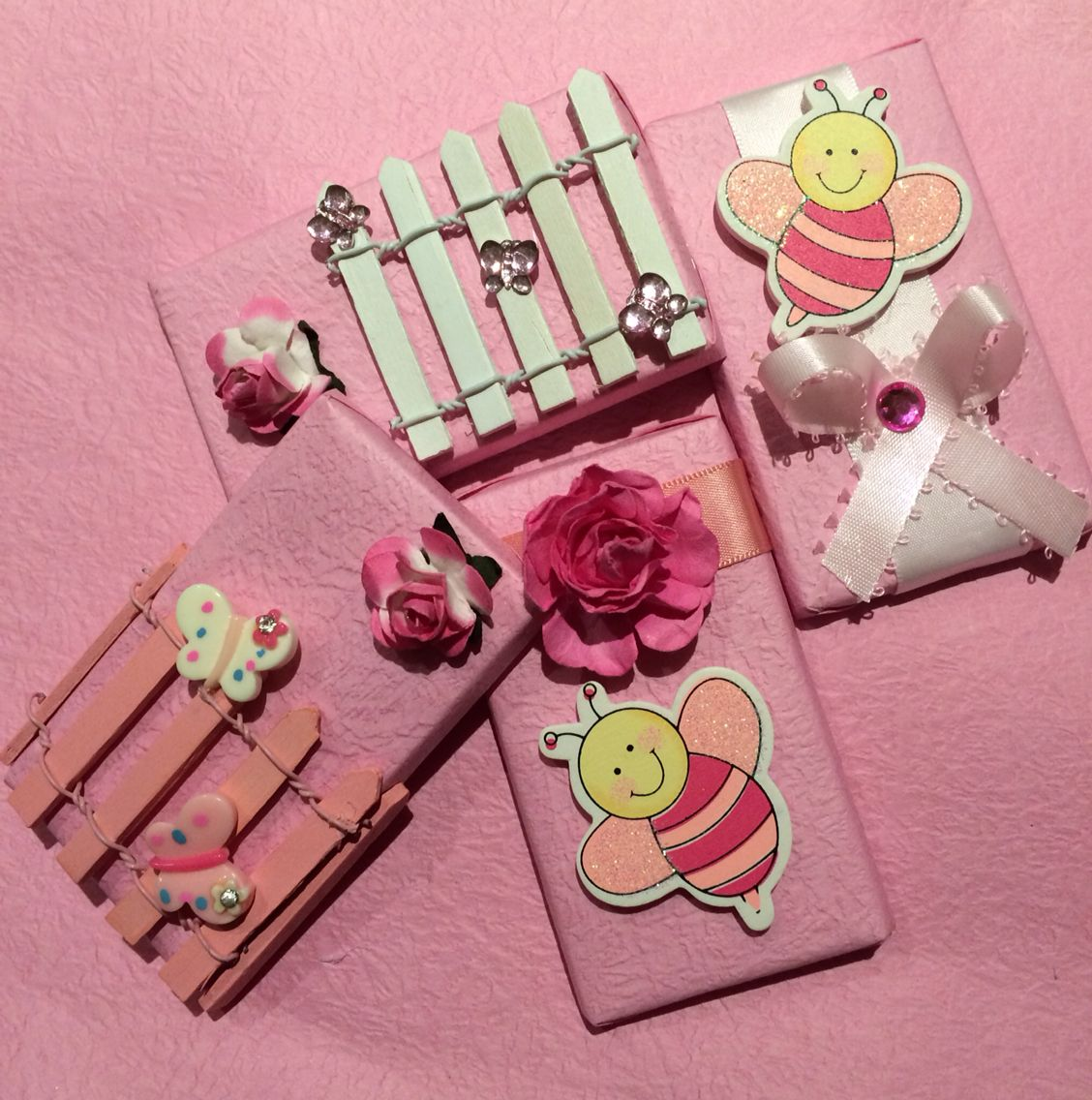Baby girl chocolate favors! Great for baby shower or welcome home favors!
