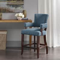 Madison Park Parler Blue Arm 26 Inch Counter Stool 225w Bar