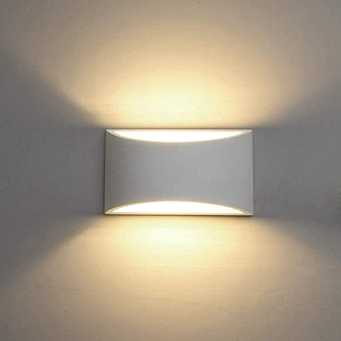 Modern Led Wall Sconce Lighting Fixture Lamps 7w Warm White 2700k Up And Down Indoor Plaster Wall Lamps For L Wall Lamps Bedroom Wall Sconce Lighting Wall Lamp