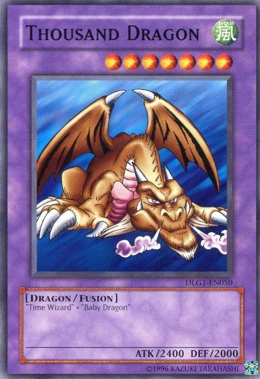 Thousand Dragon Yugioh Dragon Baby Dragon