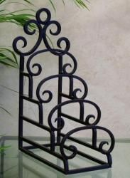 #Tuscan Mediterranean 4 Tier Wrought Iron Table Top Plate Holder. This #plateholder is & Tuscan Mediterranean 4 Tier Wrought Iron Table Top Plate Holder ...