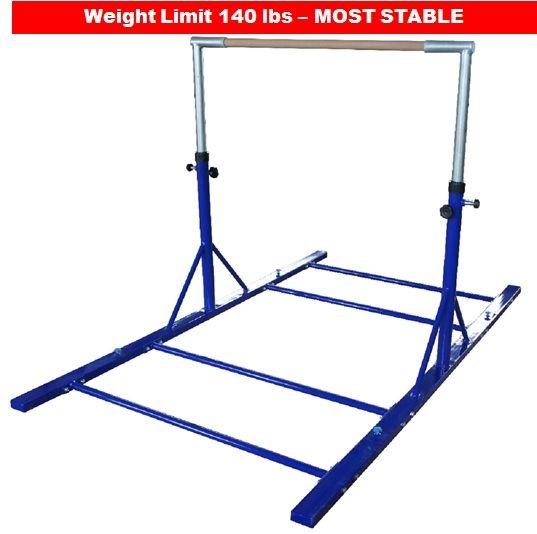 Gymnatics Bar Blue 3-5 ft Adjustable Heavy-Duty Bars | Gift