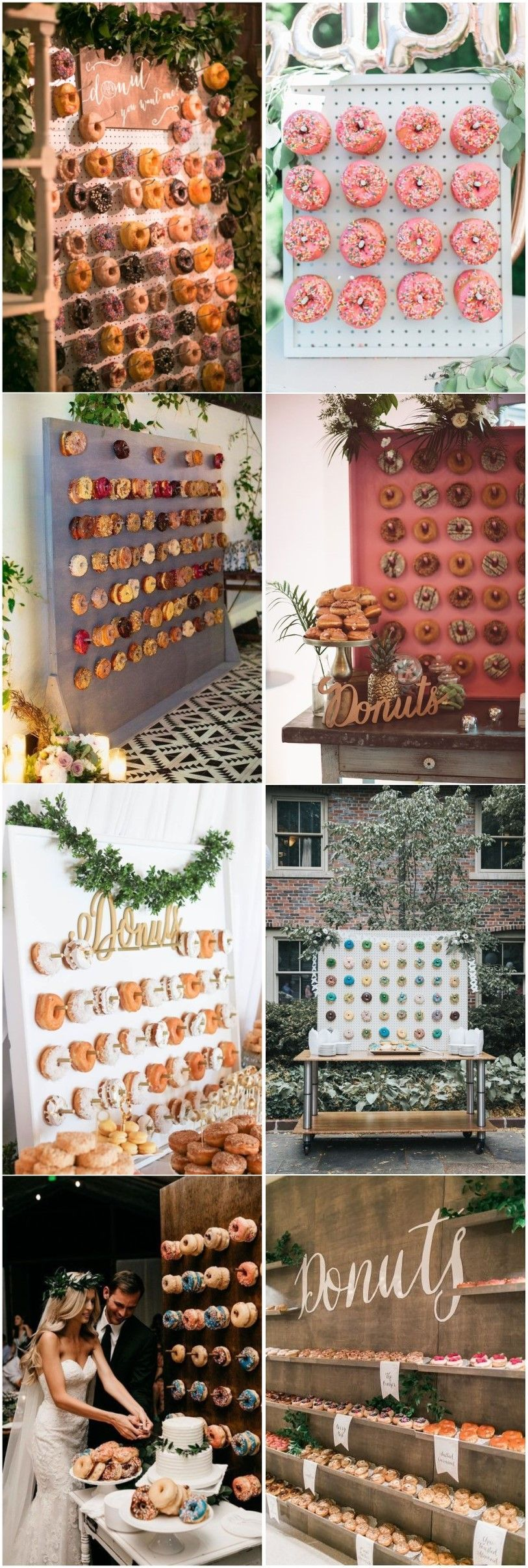 Wedding room decoration ideas 2018  Latest Catering Trend of  Mouthwatering Donut Wedding Walls