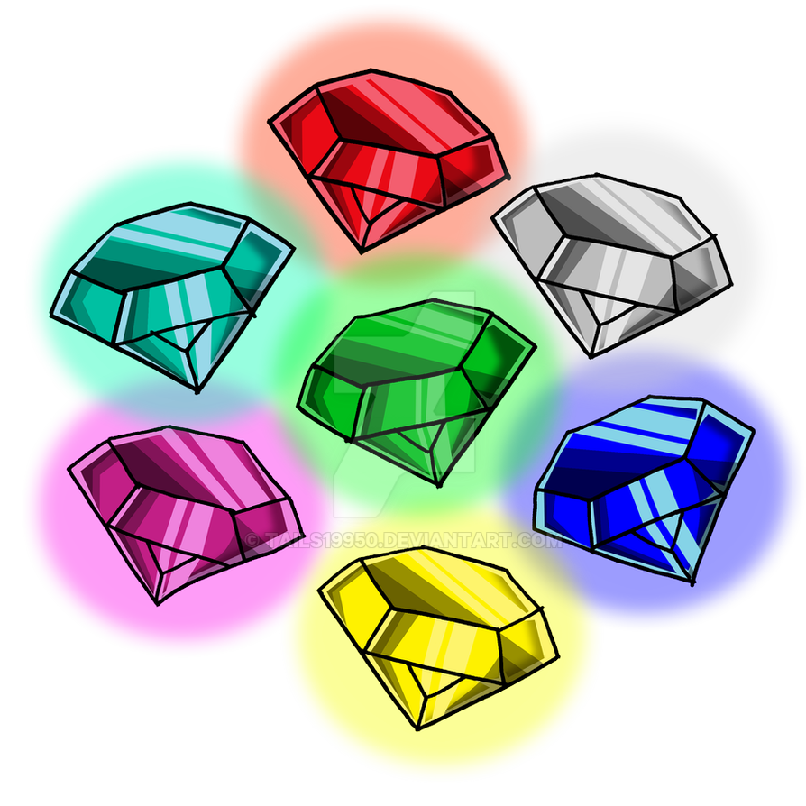 The Chaos Emeralds By Tails19950 On Deviantart Chaos Emeralds Sonic And Shadow Chaos