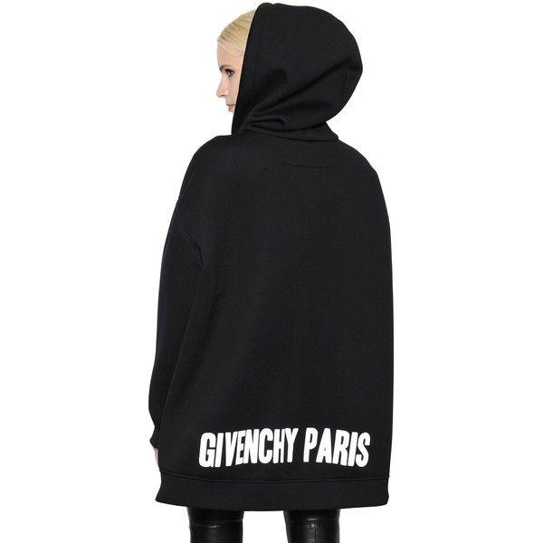 51d0d0c2ab Givenchy Women Oversized Zip Up Neoprene Sweatshirt ($1,530 ...