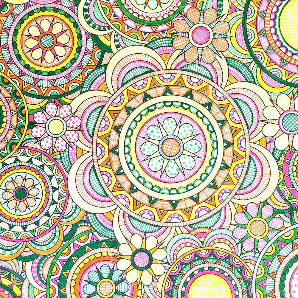 Bonjour Coloristes Adult ColoringColoring PagesColoring BooksMandala DesignFlower DesignsDesign