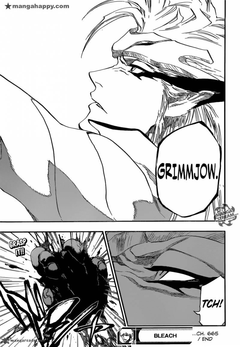 Bleach 665 - yaaay, Grimmjow is back one more time !