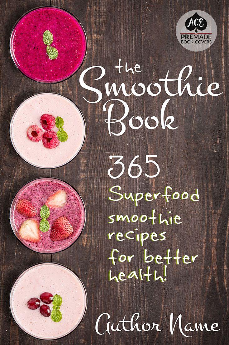 Premade Book Cover Design O Nonfiction Ebook Genres Cookbook Smoothie Recipes Smoothies