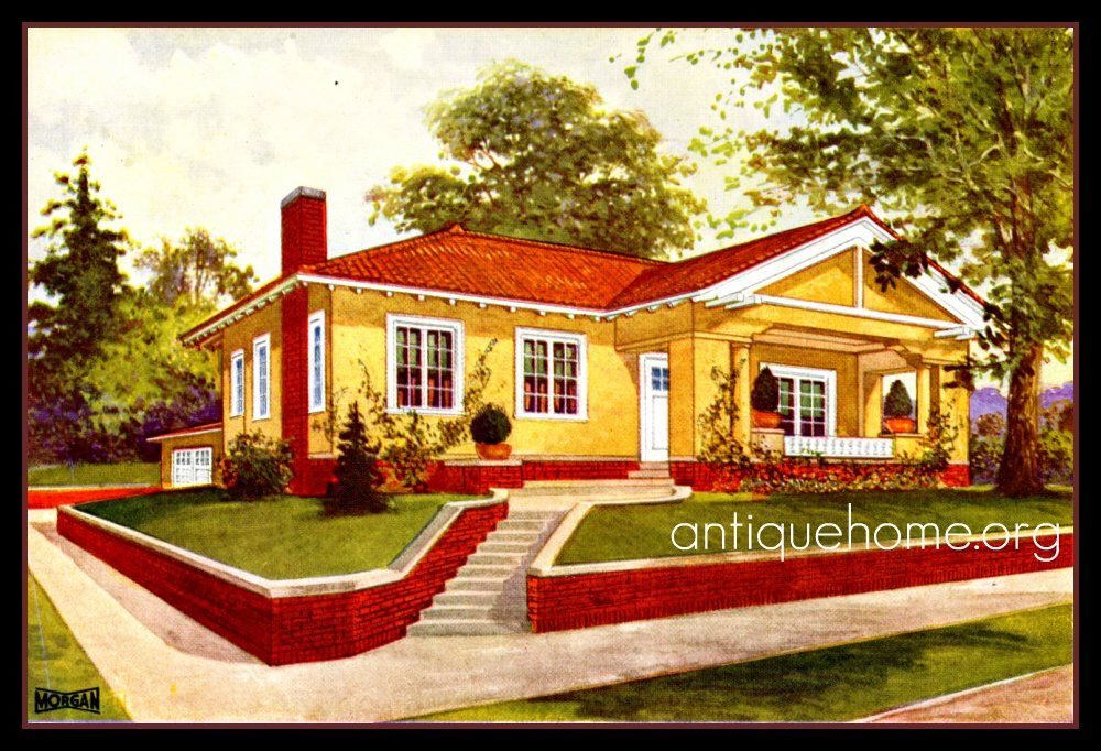Yellow House Red Roof Bungalow Decor Red Roof Bungalow