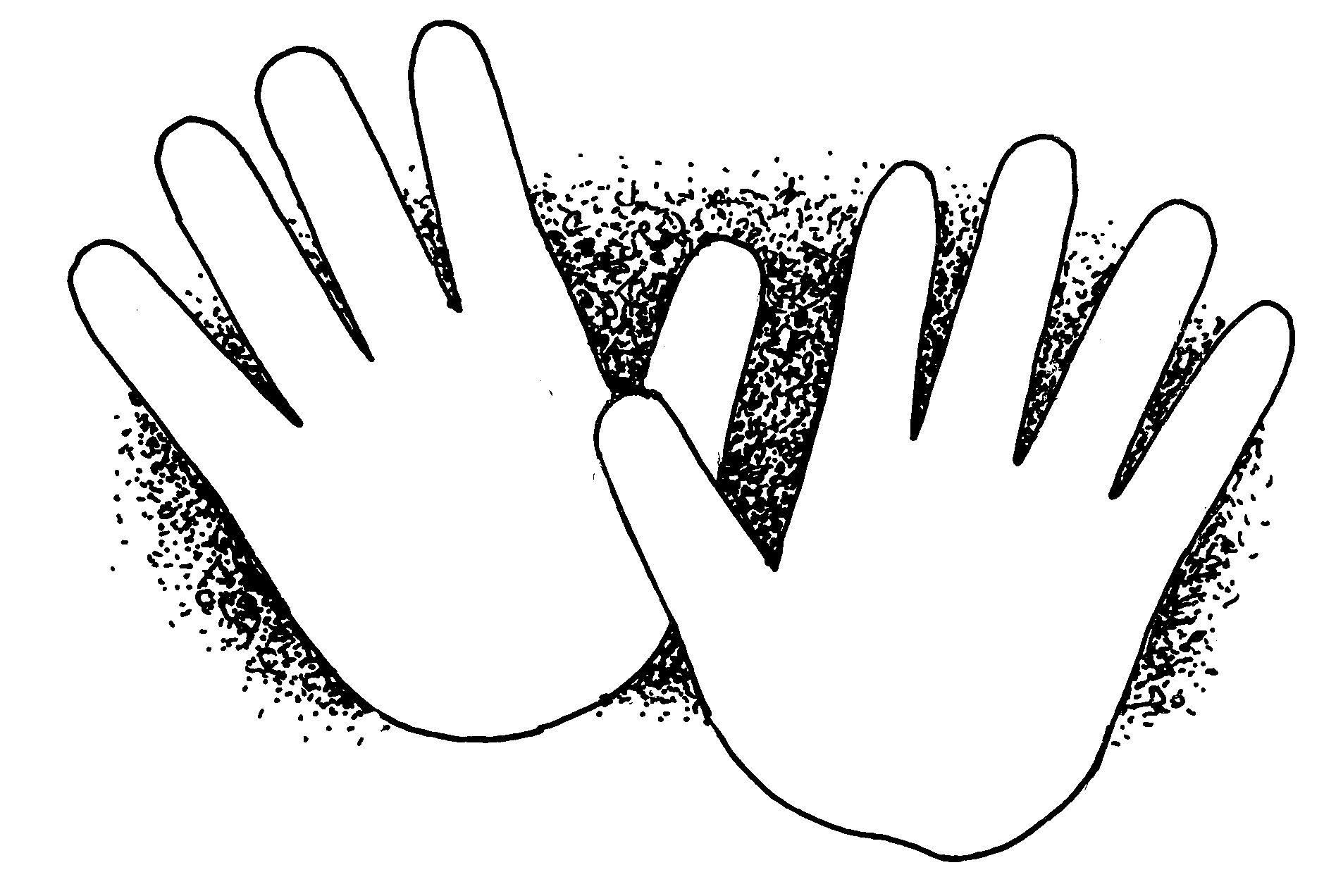 Mormon Share Hands Helping Hand Outline Hand Coloring Clip Art