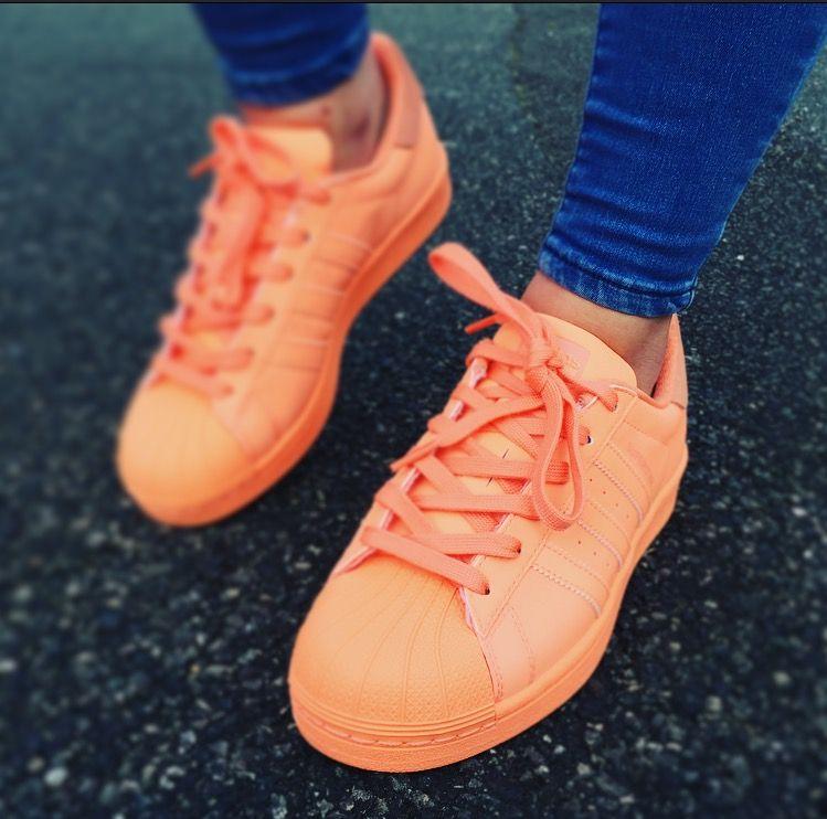 adidas Superstar Adicolor Womens Orange