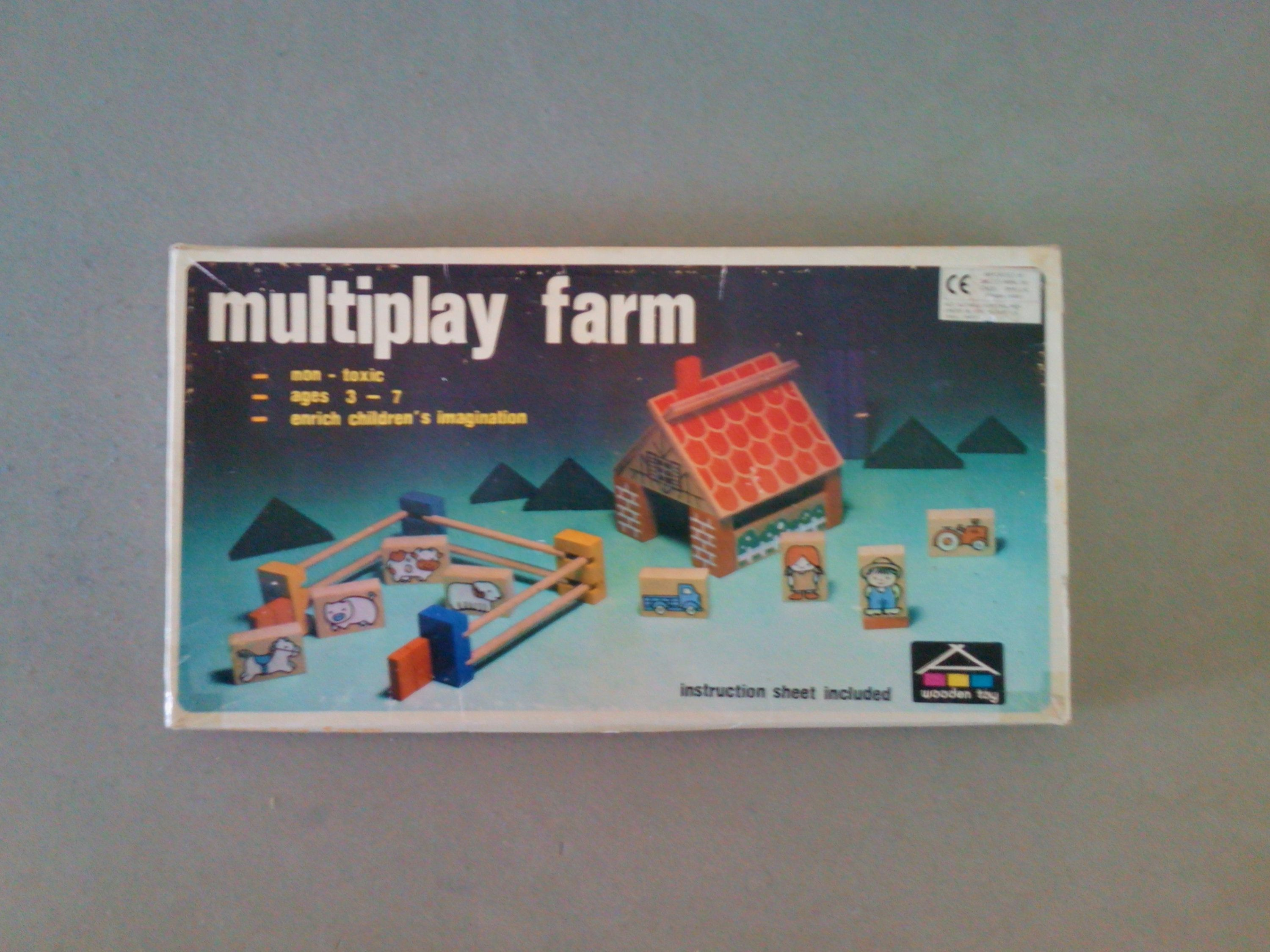 Mulitplay farm, wooden farm playset, childrens farm game