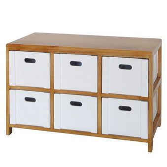 100 2 cajonera moh de madera 6 cajones muebleauxiliar - Muebles del hogar ...
