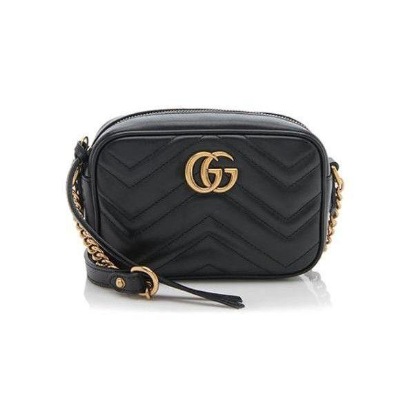 Rental Gucci Matelasse Leather GG Marmont Mini Bag ($150) ❤ liked ...