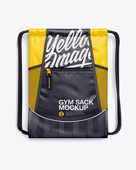 Download Gym Sack Mockup Front View In Apparel Mockups On Yellow Images Object Mockups Gym Sack Design Mockup Free Mockup