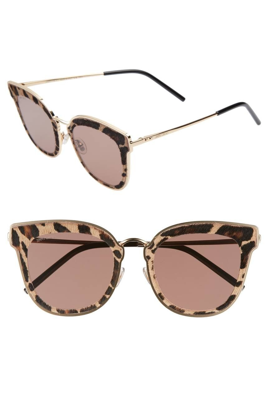 03f091ba48 Boldy patterned frames provide just-right glam to Italian-crafted sunglasses  in a retro-chic cat-eye silhouette.