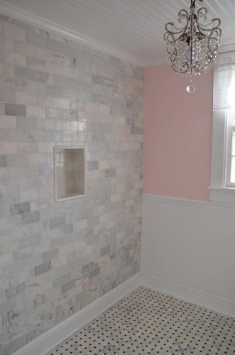 Master Shower Subway Tile M S International Inc 3 In X 6 Grecian White Marble Floor Wall 5 49 Sqft