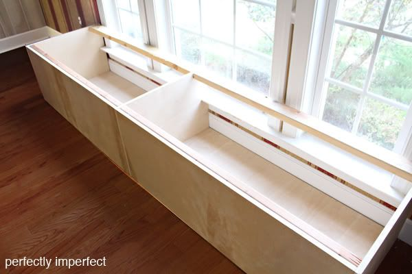 How To Build A Bench Seat Around Slightly Over An Existing Window