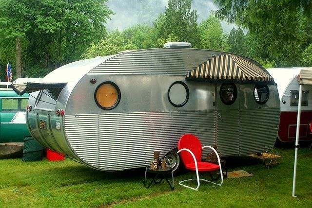 1952 Airstream Camper And Love The Awnings