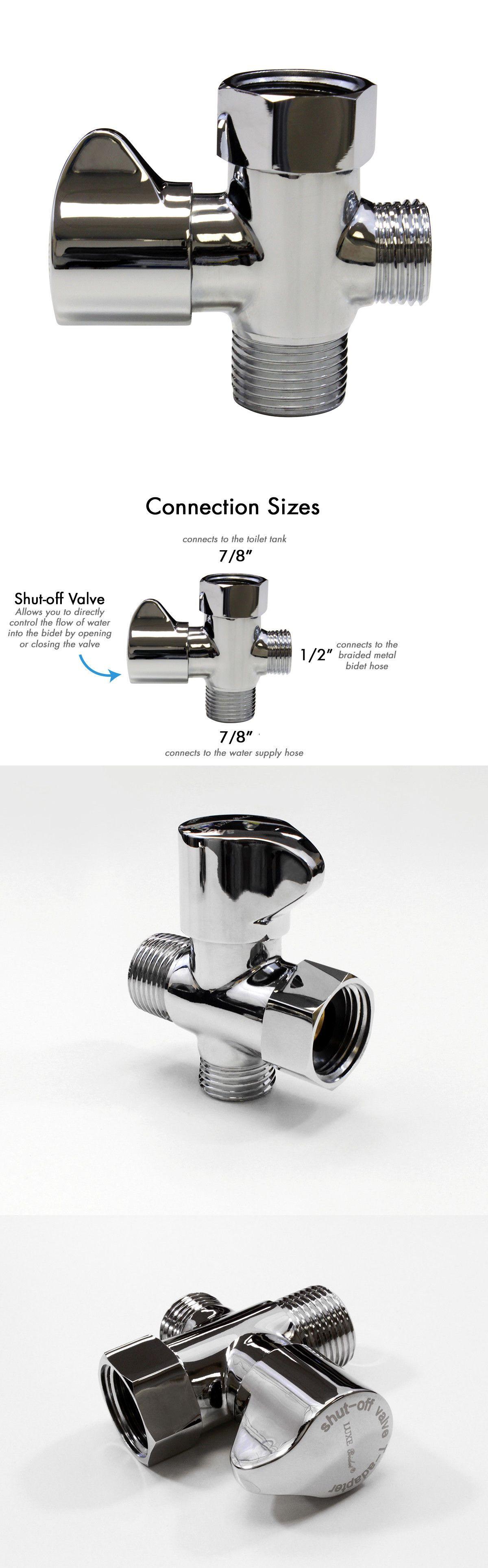 Brass Toilet Bidet Valve 7 8 1 2 T Adapter Shut Off 3 Way