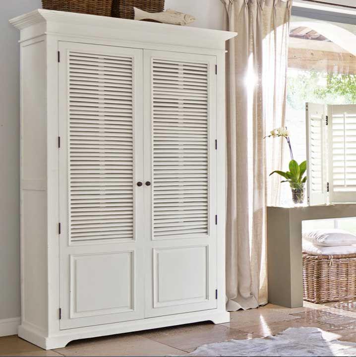 Kleiderschrank design weiss  Kleiderschrank-weiß-antik-im-klassischen-Stil-mit-2-Türen-und-Vier ...