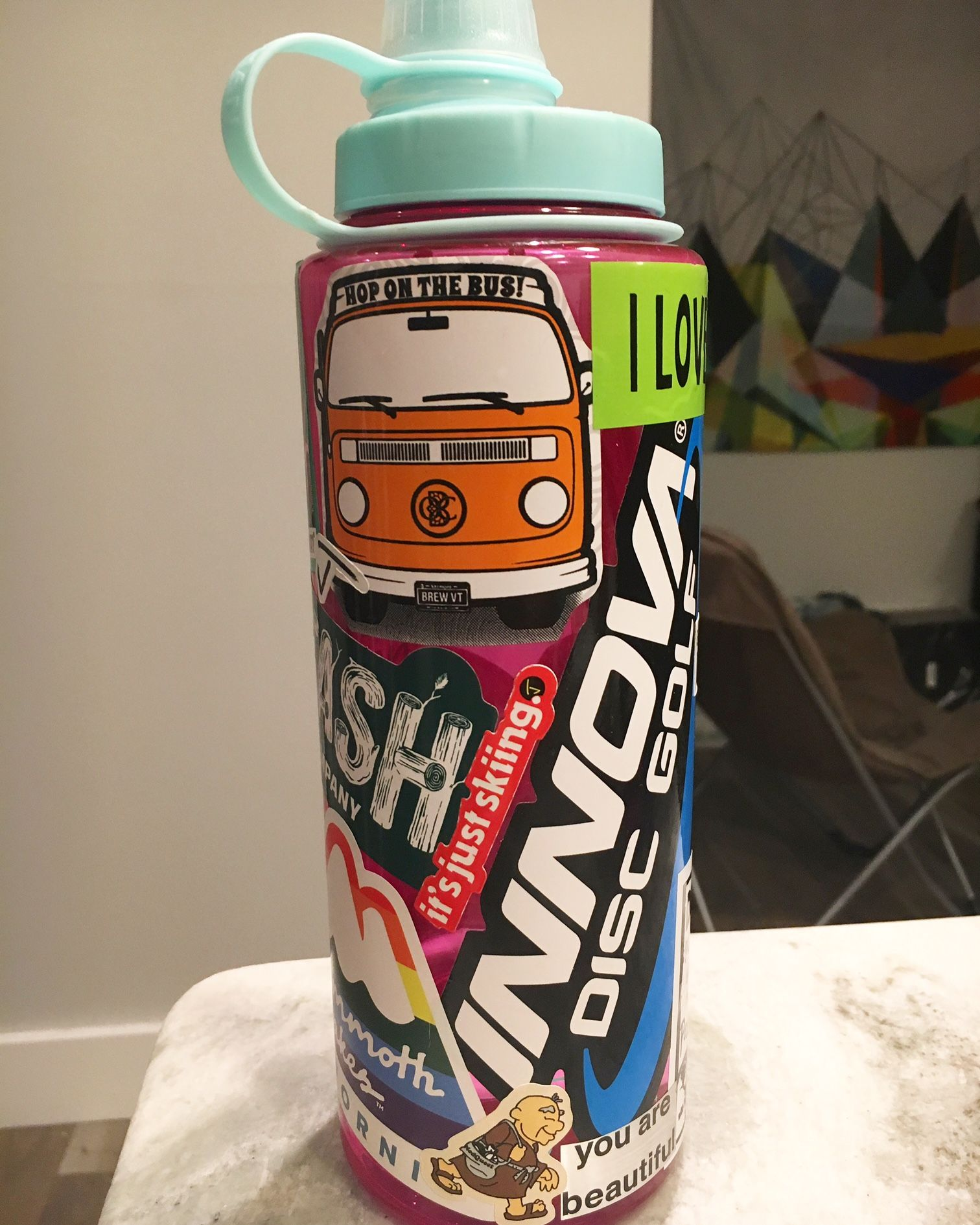 how to create a water bottle sticker