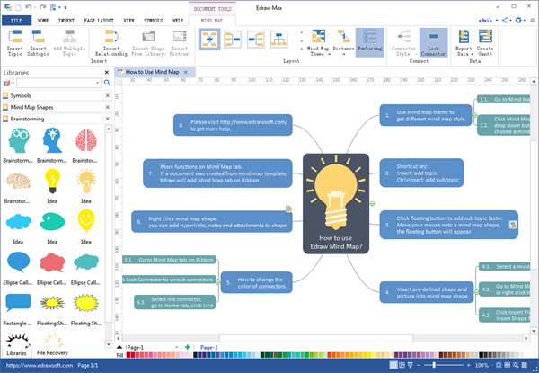Mind Map Windows Interface Mind Map Mapping Software Freeware