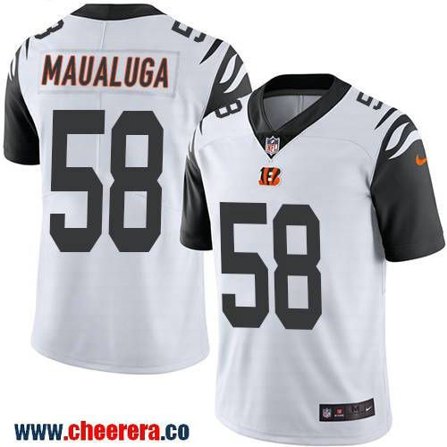 Men s Cincinnati Bengals  58 Rey Maualuga White 2016 Color Rush Stitched  NFL Nike Limited Jersey 70b5f0c99