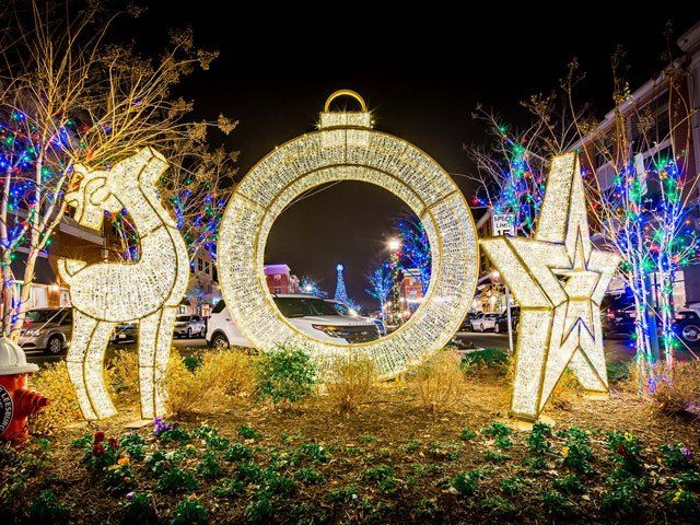 Outside Christmas Decorations Led Light Displays A
