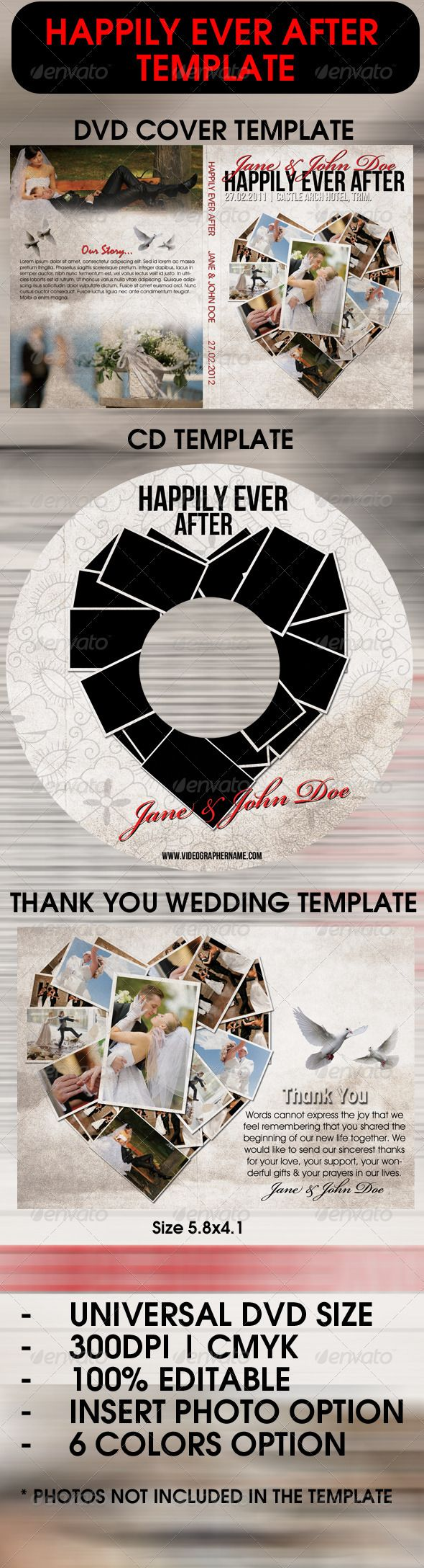 Happily Ever After Wedding Template
