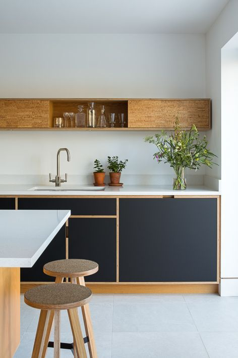 Photo of Kitchen love, black with wood by Uncommon Projects #cake love #projects #sch …